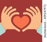 vector hands in the form of...   Shutterstock .eps vector #209147971