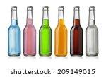 Juice Bottle On White...
