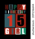 retro happy birthday card.... | Shutterstock .eps vector #209156644
