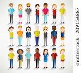 different social groups of... | Shutterstock .eps vector #209156887