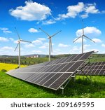 Solar Energy Panels With Wind...