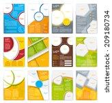 set of flyer  brochure or... | Shutterstock .eps vector #209180734