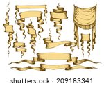 old banners  ribbons and... | Shutterstock .eps vector #209183341
