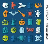 set of halloween icons | Shutterstock .eps vector #209184769