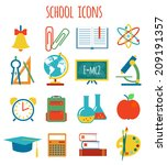 set of icons education.flat... | Shutterstock .eps vector #209191357