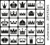 black icons in white rectangles ... | Shutterstock .eps vector #209193241