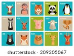 set of colorful named cartoon... | Shutterstock .eps vector #209205067