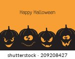 banner with spooky and crazy... | Shutterstock .eps vector #209208427