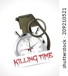 stopwatch   killing time concept | Shutterstock .eps vector #209210521