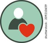 human heart vector icon | Shutterstock .eps vector #209210659