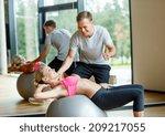 fitness  sport  exercising and... | Shutterstock . vector #209217055