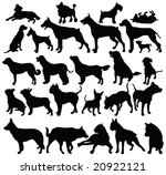 dogs silhouettes   vector | Shutterstock .eps vector #20922121