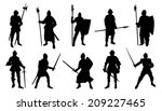 Knight Silhouettes On The Whit...