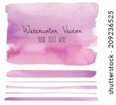 purple watercolor background... | Shutterstock .eps vector #209236525