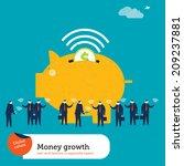 wireless piggy bank | Shutterstock .eps vector #209237881