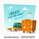 create your own journey. vector ... | Shutterstock .eps vector #209242837