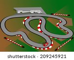 car test track | Shutterstock .eps vector #209245921