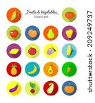 vegetables and fruits vector... | Shutterstock .eps vector #209249737