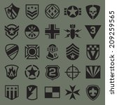 military symbol icons 2 | Shutterstock .eps vector #209259565