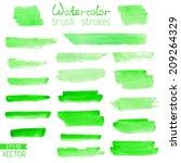 set of hand painted brush... | Shutterstock .eps vector #209264329