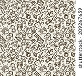 seamless texture with icons  ... | Shutterstock .eps vector #209267659