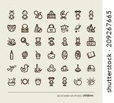 children. nursery. set of icons.... | Shutterstock .eps vector #209267665