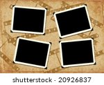 retro photo framework against... | Shutterstock . vector #20926837
