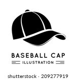 baseball cap in flat style.... | Shutterstock .eps vector #209277919