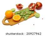 board with cut fresh fruits...   Shutterstock . vector #20927962