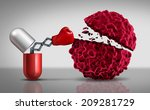 cancer drugs fighting a... | Shutterstock . vector #209281729