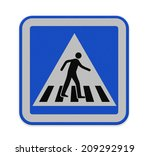 crosswalk sign with a man... | Shutterstock . vector #209292919