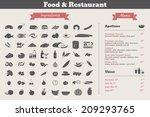 food ingredients   restaurant... | Shutterstock .eps vector #209293765
