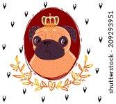 pug king | Shutterstock . vector #209293951