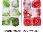 Ice Cubes With Forest Berries ...