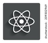 atom sign icon. atom part...