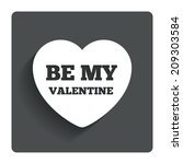 be my valentine sign icon.... | Shutterstock . vector #209303584