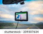 gpd in a car | Shutterstock . vector #209307634