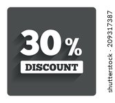 30 percent discount sign icon....