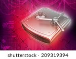 secure hard drive | Shutterstock . vector #209319394
