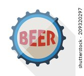 beer bottle cap icon with long... | Shutterstock .eps vector #209320297