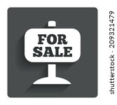for sale sign icon. real estate ...
