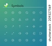 symbols line icons set. vector... | Shutterstock .eps vector #209327569
