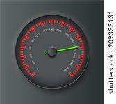 vector speedometer eps 10 | Shutterstock .eps vector #209333131