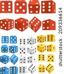 dice in several positions and... | Shutterstock .eps vector #209336614