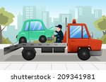a vector illustration of tow... | Shutterstock .eps vector #209341981