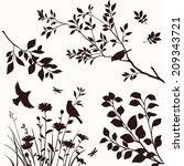 set of decorative nature...   Shutterstock .eps vector #209343721