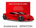vector illustration of a red... | Shutterstock .eps vector #209347534