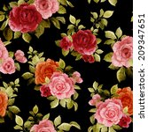 seamless floral pattern with... | Shutterstock . vector #209347651