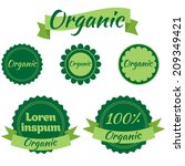organic icon set | Shutterstock .eps vector #209349421