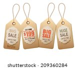 sale tags. concept of discount... | Shutterstock .eps vector #209360284